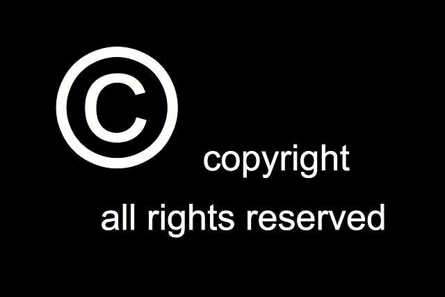Image:  Copyright logo, all rights reserved, Mike Blogs wikimedia.org