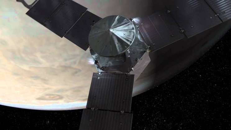 The Juno spacecraft arrives at Jupiter later this year. Photo: NASA / Youtube